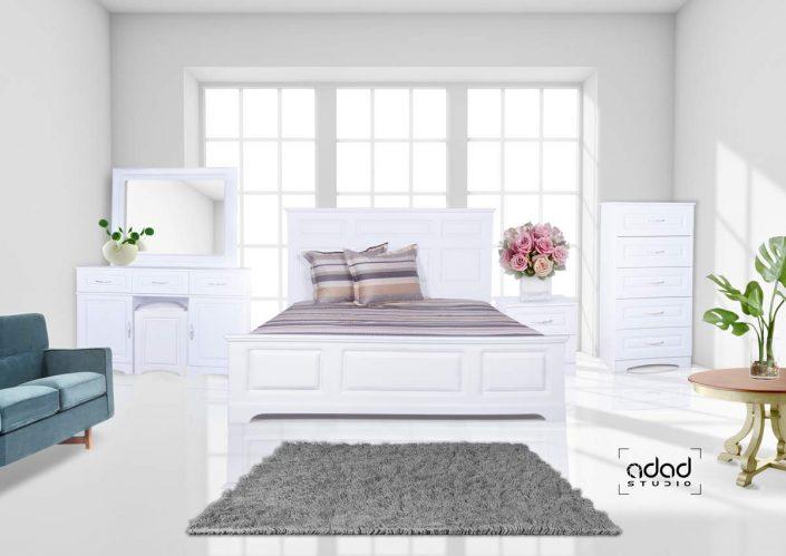 پروژه عکاسی تبلیغاتی و مونتاژ از سرویس تخت خواب گروه کاریان