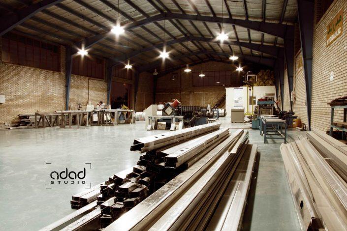 پروژه عکاسی صنعتی کارخانه پروفیل الوند